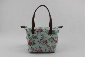 China Promotional Custom Canvas Tote Bags With Flower Printing Summer Stylish on sale