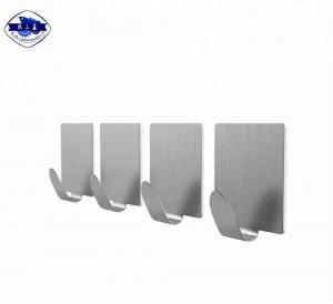 China Heavy Duty Stainless Steel Wall Hooks Self Adhesive Metal Clothes Hooks on sale