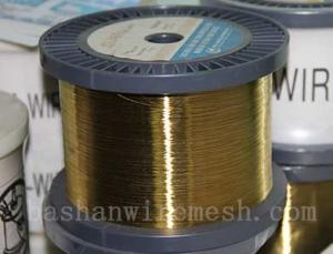 China Bashan factory direct supply  Cu60%,Zn40%  0.01~0.30mm EDM brass wire for cutting on sale