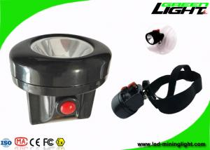 China 450mA 10000Lux LED Mining Light 2.8Ah Battery Plug - in Charging Way IP67 Cap Lamp on sale
