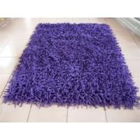 Polyester Shaggy Rug The gourd yarn Purple Thick Yarn Plush Carpet