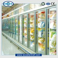 Glass door refrigerator showcase for supermarket  Remote types  of 918mm Depth