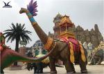 Amusement Equipment Life Size Fiberglass Realistic Lovely Dinosaur Cartoon Model