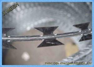 China Concertina Hot Dipped Galvanized Construction Binding Wire , Razor Barbed Wire Durable on sale