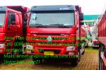 Sinotruk HOWO7 8X4 10Tires 20M3 bucket Heavy Duty Dump Truck for  With Frond Lifting  EUROII with 371hp