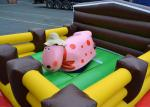 Crazy Junior Rodeo Bull Ride Outdoor Inflatable Games Air Mechanical Bull