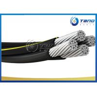Black Color Aerial Bundled Cable , Aerial Messenger Cable BS 7870 Standard