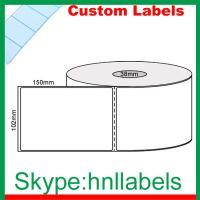 Custom Thermal Label 102mmX150mm/1 Plain D/Thermal Roll Perm, Perfs, 400Lpr, 38mm core