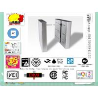 China Fingerprint Access Control Flap Turnstile Gate with Fire Alarm System on sale