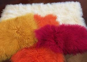 China Mongolian Sheepskin Rug Home Fashion Decorative Throw Long curly sheepskin fur on sale