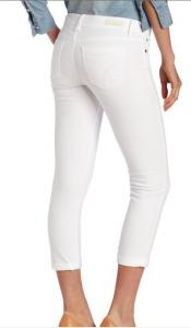 China White Straight Leg Trousers / Pants For Women / Ladies , 65% Cotton on sale