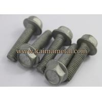 China Hexagon flange bolt, plain finish hex flange screws on sale