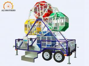 China 3 Kw Small Carnival Amusement Rides Portable Ferris Wheel With Trailer on sale