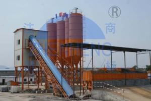 China Stationary Hzs60 Concrete Batching Plant High Performance Electric Power on sale