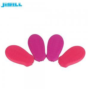 China Mini Slim Foot Pad Shape Gel Toddler Ice Pack Refreezable Ice Blocks on sale