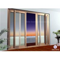 Soundproof Aluminum Powder Sliding Door And Window Wooden Grain Sliding Door