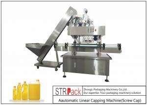 China Intelligent Electric Screw Bottle Capping Machine PCL Control Capacity 40-100 BPM on sale