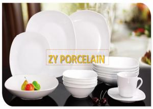 China Fine Porcelain White Ceramic Dinnerware Sets , Lightweight Dinnerware Collections Sets on sale