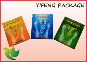 China Printing Herbal Incense Bag Aluminum Foil Zippered Pouch Oxygen Resistance on sale