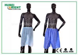 China El boxeador de seda no tejido de los hombres del azul pone en cortocircuito para el salón del masaje/del pelo del balneario, muestra libre on sale