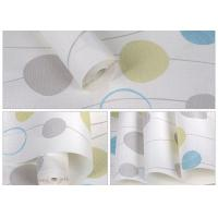 China Blue And White Self Adhesive Wallpaper , Home Decoration Wallpaper Non Woven Material on sale