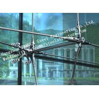 Stainless Steel Fin Fully Spider Fitting Frameless Glass Curtain Wall for showroom
