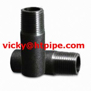 China Astm A-312 TP 304H threaded nipple on sale