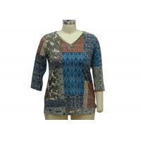 Stone Patterned Ladies Casual T Shirts Dressy Womens Tops 200gsm Fabric Weght