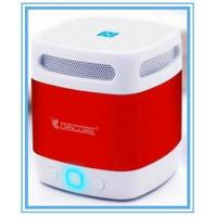 China Portable Mini 3W NFC Boombox Wireless Bluetooth Speaker With Voice Broadcast Yellow Red on sale