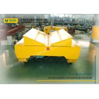 15 Ton Yellow Coil Transfer Trolley / Heavy Load Cart With Four Wheels