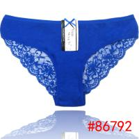 2014 New pretty laced lady bikini panties lady brief stretched cotton short pants women underwear lingerie intimate
