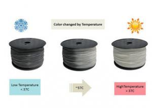 China High Strength Thermoplastic Filament , ABS 1.75mm Color changing Filament Grey to White on sale