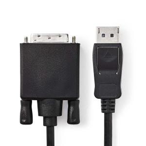 China Nickel Plating Displayport Adapter Cable , 6.6 Feet 1080P Male To Male Adapter Cable on sale