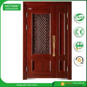 China Supplier Cheap Steel Security Door/ Exterior Wrought Iron Security  Door For Main Gate Designs