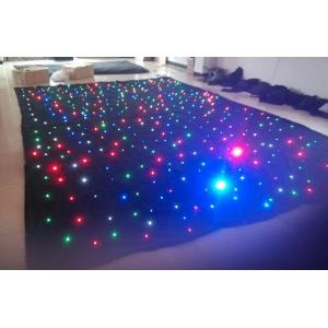China LED sky star curtain with RGB tricolor LEDs,RGB 3in1  LED star cloth on sale