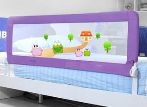 King Size Childrens Bed Guards Foldable , Purple Twin Bed Rail for