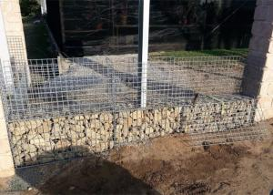 China Hot Dipped Gabion Gravity Retaining Walls Galvanized Gabion Wall Face on sale