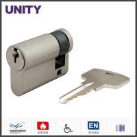 Single Euro Door Cylinder EN1634 Fire Tested Yale Keyway EN1303 Brush Nickel