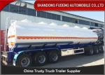 China 9000 Gallon Fuel Tanker Semi Trailer Optional Dimension High Strength Steel Material wholesale