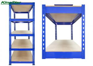 China Lightweight Boltless Storage Shelving Unit , 200Kg Capacity 4 Shelf Metal Rack System on sale