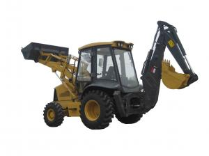China Chinese brand 4 wheel drive original Japanese cummins engine   2ton load backhoe loader on sale