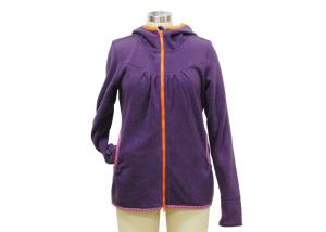 China Colorful Purple Ladies Spring Coats , Lightweight Women'S Jackets For Travelling on sale