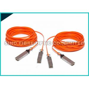 China Orange 4.0mm Mulimode Fiber Active Optical Cable 25G SFP28 Connector on sale