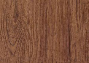China MDF Skirting Board Cover Wood Grain Film Brown Color 500 Meters / Roll on sale