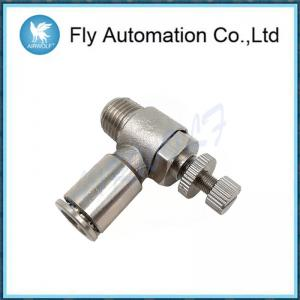 China Nickel Plated Brass Tube Fittings Unidirectional Throttle Valve Adapter on sale