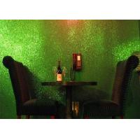 China Light Green Glitter Wallpaper For Bedroom , Craft 3d Glitter Wallpaper on sale