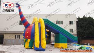 China Large Dragon Inflatable Water Slide Ground Mobile Park Outdoor Customized on sale