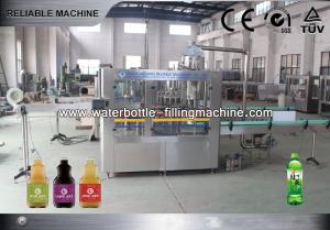 China 0.3 ~ 2.0 Juice Bottle Filling Machine For / Tea / Coffee 3 In 1 Monoblock on sale