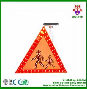 China Road signal warning solar guide sign triangle solar traffic sign crossing sign on sale