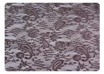 Tela respetuosa del medio ambiente del cordón del poliéster, diseño del anacardo para la ropa interior CY-CT8503